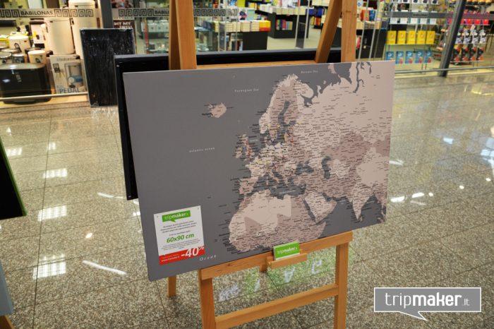 Europos žemėlapis ant drobės