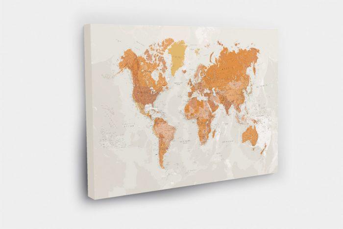 Geltonas pasaulio žemėlapis