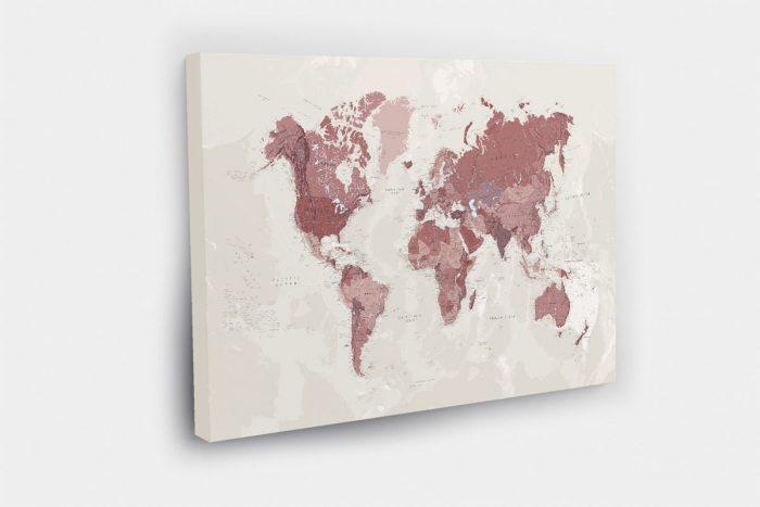 Kelioniu žemėlapis aplankytoms vietoms žymėti