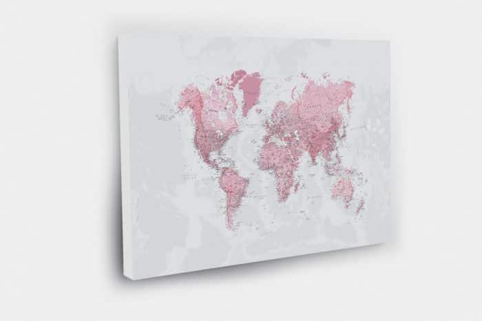 Rožinis žemėlapis su smeigtukais