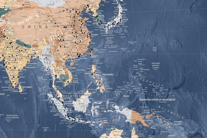 Mėlynas kelionių žemėlapis